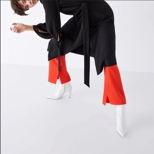Like new Zara White leather booties. Size 10/41